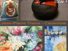 picture of expos Tours, Annie Peris, peinture, Jean-Pierre Treins, céramique, galerie d'art, LeTunnel 37